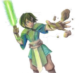 Toph Jedi by RogueDragon