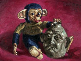 Monkey Jug by paintpixelprint