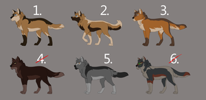 Comic wolf design auction by Sylean