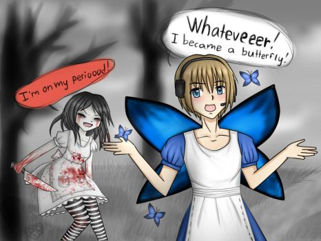 Pewds became a butterfly! by Rozala