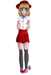 PC-Pokemon Serena's summer outfit  by Pinkwolfly