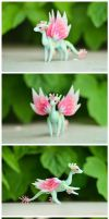 Handmade ball-jointed fairy dragon by dallia-art