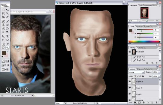 Gregory House WIP02 by JensEklund