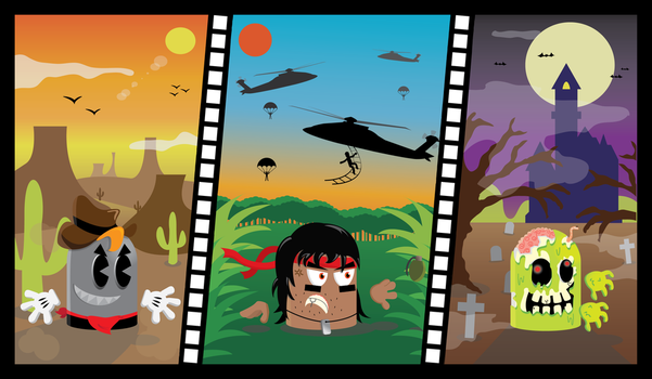 Vector illustration - Movie genres by Joao-Martins