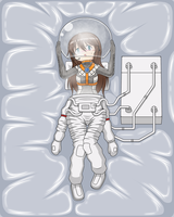 A Girl Taking off Space Suit by Nekomi4