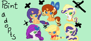 mlp rarity x applejack POINT adoptables ::CLOSED:: by Patty-Chickens