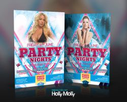 Party Nights Disco Dance Flyer by imagingdc