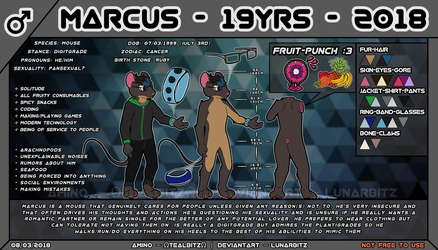 Marcus - Reference Sheet by LunarBitz