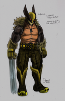 How I'd redesign Wolverine by LukeLlenroc