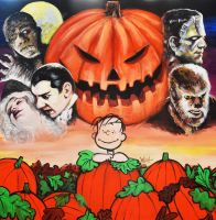 Linus and  The Great Pumpkin by woodywelch