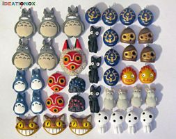 Studio Ghibli inspired Charms by Ideationox