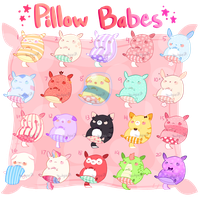 (OPEN 8/20)(SET PRICE) Pillow Babes by Mewkyz