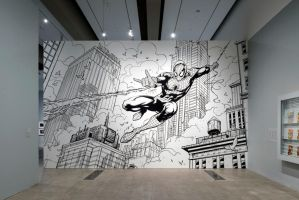 GOMA Spiderman Mural by FlowComa