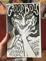 GOOD BOY adult coloring book 44pg now available by quietsecrets