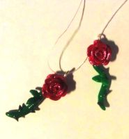 Enchanted Rose Charms by ThatPeskyNargle