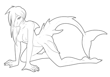 F2U Lineart - Going For A Swim by ShadowInkWarrior