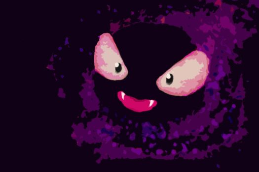 Gastly by GinderTheChespin