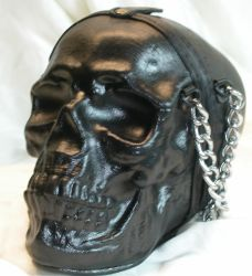 Leather skull purse side by GriffinLeather