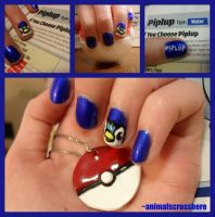 Piplup Nail Art by animalscrosshere