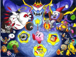Kirby and co. and bosses by bionicfan32001