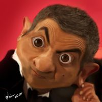 Mr. Bean Caricature by whin