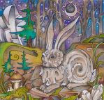 Winter Hare by lauraborealisis