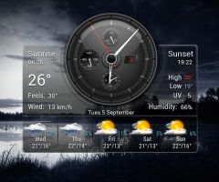 Stargate Weather Analog Clock HD 2 for xwidget by Jimking