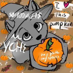 Halloween Pumpkin Furry YCH auction Closed by Pixezure