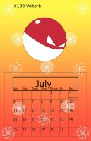 July Voltorb by BrittanysDesigns