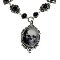 Steampunk Neo Victorian Jewelry - Necklace - Skull by CatherinetteRings