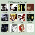 2010 Art summary by suburbian-kat
