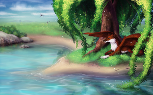 [C] .: Ancient willow :. by ancarie-bluewolf