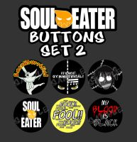 Soul Eater Buttons Set 2 by wanabiEPICdesigns