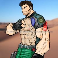 Chris Redfield COLORED by mysoul89