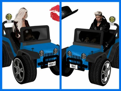 His and Hers Jeeps by Beladarus
