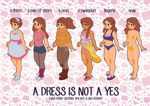 A dress is not a yes! by audreymolinatti