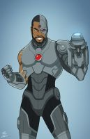 Cyborg (Earth-27) commission by phil-cho
