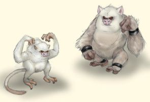 Mankey and Primeape by RtRadke