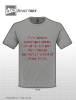 Zombies vs Jersey Shore by Kitty1205
