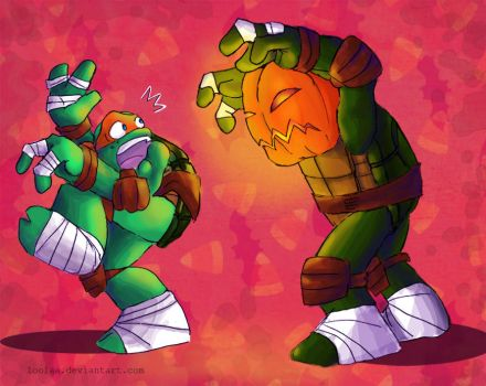 TMNT: Happy Halloween! by loolaa