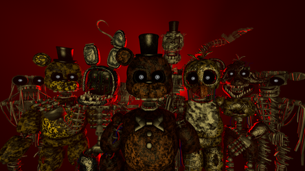 (fnaf sfm) ignited's poster redo by sammy2005