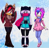 Next gen girls + Winter outfits by Cometshina
