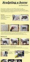 Sculpting a horse - progress by ClawsUnion
