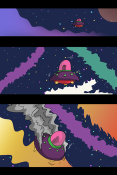 Space Pizza Page 1 (+ updates)! by InkyTheCartoonist