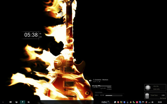 My new Rainmeter Desktop by Absinto10