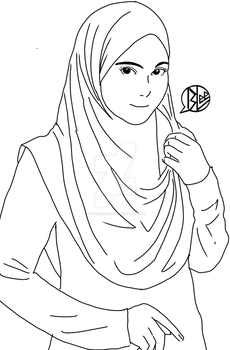 model tudung by budoxesquire