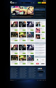 Electro music site by Pergair