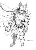 Thor sketch by johnnymorbius