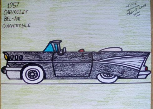 1957 Chevy Bel-Air convertible by adrian154