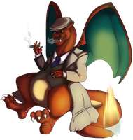 Mafia Charizard by AnimeVSReality